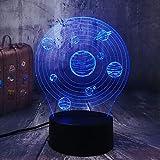 Sproud Planet 16 Farbfernbedienung 3D Illusion Lampe/Farbwechsel LED Nachtlicht/Kinderliebhaber...