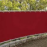 Hisunny Balkonverkleidung Kunststoff 75x650cm 100% Polyester 160g/m² Balkumrandung In div. Größen...