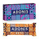 Adonis Keto Riegel | Schokolade & Orange Snack Riegel | 100% Natürliche Nuss Snacks, Low Carb,...