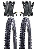 KENDA 2 x MTB Reifen Fahrradreifen 26 Zoll 54-559 26 x 2.10 inklusive 2 x Schlauch mit Autoventil