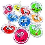 German Trendseller® - 50 x Super Kreisel - Emoji ┃ Mitgebsel ┃ Kindergeburtstag ┃ Spielzeug...