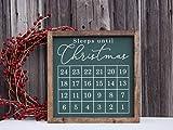 Generic Sleeps Until Christmas Schild, Weihnachts-Countdown-Schild Weihnachten Countdown Kreidetafel...