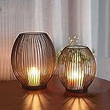 Shengruili 2 Stücke Kerzenständer Set,Kreativ Vintage Kerzen Ständer,Stabkerze Metall Deko...