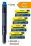Online 20x Kombi-Tintenpatronen blau, 20 Stück (Universal-Patronen, kompatibel mit allen gängigen...