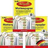 Aeroxon - Mottenpapier - 3x20 Stück - gegen Motten, Käfer und Larven - Mottenschutz für ihre...