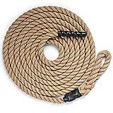 DREAMADE Kletterseil Klettertau mit Gummigriffen, Trainingsseil Clibing Rope 3,8cm Durchmesser für...