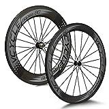 VCYCLE Nopea 700C Rennrad Carbon Laufradsatz Drahtreifen Vorne 60mm Hinten 88mm Shimano oder Sram...