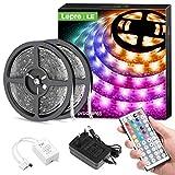 Lepro LED Strip 10M(2x5M), LED Streifen Lichterkette mit Fernbedienung, Band Lichter Wasserdicht...