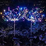 DXLG Solar Feuerwerk Licht,120pcs Led-solar Lichterkette Ip65 Wasserdicht, 2 Beleuchtungsmodi,...