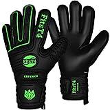 FitsT4 Torwarthandschuhe mit Fingersave-Schutz, Super-Grip, Torhüter Keeperhandschuhe für Kinder...