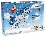 Kreul 42844 - Window Color Set Glitzerwelt, für kleine und große Kreative, 6 x 80 ml...