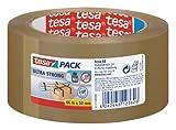 tesapack Ultra Strong - PVC-Klebebänder für festes Verpacken und sicheres Bündeln - Braun - 66 m...