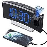 Mpow Projektionswecker, Wecker Digital mit Projektion, Radiowecker mit USB-Anschluss, Dual-Alarm, 5...