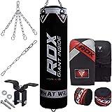 RDX Boxsack Set Gefüllt Kickboxen MMA Muay Thai Boxen mit Deckenhaken Stahlkette Training...