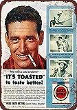 Fhdang Decor Ted Williams for Lucky Strike Zigaretten Vintage Look Aluminium Metallschilder 10x14...