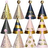 BESTZY 12PCS Partyhüte Geburtstag Dekoration Set Happy Birthday Partyhüte Party Kegel Hüte mit...