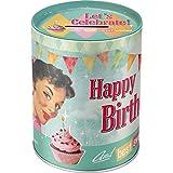 Nostalgic-Art 31006 Say it 50's - Happy Birthday Birds, Spardose