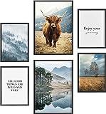 Mia Félice Deko Bilder für das Wohnzimmer modern und angesagt, Premium Poster Set » The Highlands...