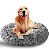 AMPERSIN Hundebett / Katzenbett, sehr weich, waschbar, für mittelgroße Hunde, weiches Plüsch,...