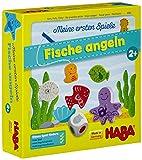 Haba 4983 - Meine ersten Spiele Fische angeln, spannendes Angelspiel mit bunten Holzfiguren,...
