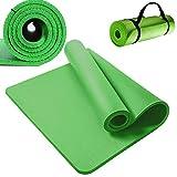 Jupitor Fitnessmatte Yogamatte Gymnastikmatte Sportmatte Pilatesmatte 180x61cm Green 15mm Dickes