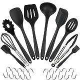 WisFox 20 Stück Silikon-Küchengeräte, Kochgeschirr Stücke Hitzebeständiges Silikon-Geschirr...