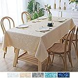 Homaxy Abwaschbar Tischdecke Wasserdicht Lotuseffekt PU Plastik Tischtuch Elegante Fleckschutz...