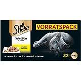 Sheba Selection in Sauce – Katzenfutter mit Geflügelhäppchen in Sauce für ausgewachsene Katzen...