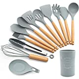 FXY Kochbesteck 13er Küchenutensilien silikon, Antihaftes Hitzebeständiges Küchenhelfer Set mit...