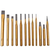 CCLIFE 12 tlg Splintentreiber Satz Durchtreiber Splinttreiber Flachmeißel Meißel/Körner