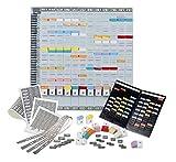 ACCO NOBO T-Karten Jahresplaner, Plantafel mit 12 Metallschienen, Monatsplaner + Zubehr + tragbarer...
