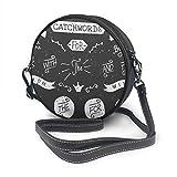 Architd Handbemalte Kreidetafel-Handtasche mit Sprüchen aus PU-Kunstleder, mit Reißverschluss,...