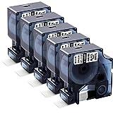 18488 Ersatz DYMO Rhino Flexible Nylon Industrie-Etikettenband Kartusche für DYMO Rhino 5200 4200...