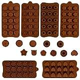 GOTH Perhk 6 Stück Schokoladenform aus Silikon, BPA Frei Verschiedene Backformen für Schokolade,...