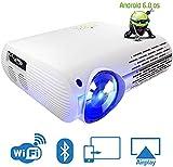 Projektor gebrtiger 1080P Smart-Android-Projektor-bewegliches Videoprojektor mit Dual-Lautsprechern...