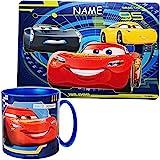 alles-meine.de GmbH 2 TLG. Set _ Unterlage + Trinkbecher / Henkeltasse - Disney Cars - Auto -...
