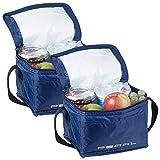 PEARL Kühltasche klein: 2er-Set isolierte Mini-Kühltaschen mit Tragegurt, je 2,5 Liter...