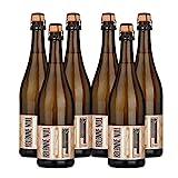 Kolonne Null - Alkoholfreier Sekt (6 x 0,75 L) – Rosé Jahrgang 2018