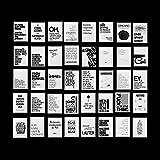 Paket 40 Postkarten mit lustigen Sprüchen, Cooles Design, Für jede Lebenslage: Motivation Arbeit...