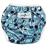 Babyino wiederverwendbare Schwimm-Windel | Bade-Hose für Babys und Kleinkinder (Muschel Blau) 6 bis...