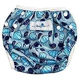 Babyino Wiederverwendbare Schwimmwindel fr Babys (Muschel Blau) 6 bis 36 Monate Gre Verstellbar