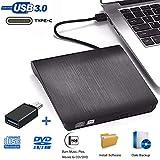 Externe DVD CD Laufwerke - iAmotus DVD Laufwerk USB 3.0 Type-c Dual Port DVD Brenner Tragbare Ultra...