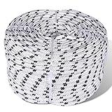 Flechtleine Bootsseil Polyester 10 mm 250 m Weiß