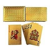 ASDZ lustige Spielkarten Qualitäts-Goldfolie überzogen Hold'em Plastikspielkarten Wasserdichtes...