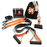Septagon Sports Premium Sling Trainer Set V.2019 Suspension Trainer mit Handtuch, Rucksackbeutel und...