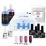 Mylee Nagellack-Starter-Set, 4 MYGEL-Farben, Top & Base Coat, UV-Lampe, Prep & Wipe, Gelentferner