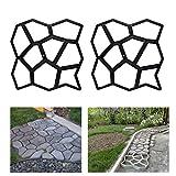 HG 2X D.I.Y Pflasterform Gehweg Betonpflaster Gieform Garten Schablone mit 9 Kammer 43 x 43 x 4cm
