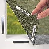 EASYmaxx Fenster-Moskitonetz mit Magnetbefestigung 150 x 130cm | Zuschneidbar ohne Bohren mit Magnet...