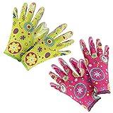 com-four® 2er Set Premium Handschuhe für Garten und Arbeit - Boden- und Pflanzhandschuhe...