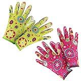 com-four 2er Set Premium Handschuhe für Garten und Arbeit - Boden- und Pflanzhandschuhe...